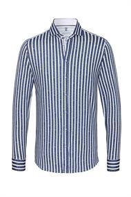 Desoto overhemd Slim Fit 31807-3 in het Donker Blauw