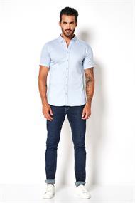 Desoto overhemd Slim Fit 33531-3 in het Blauw