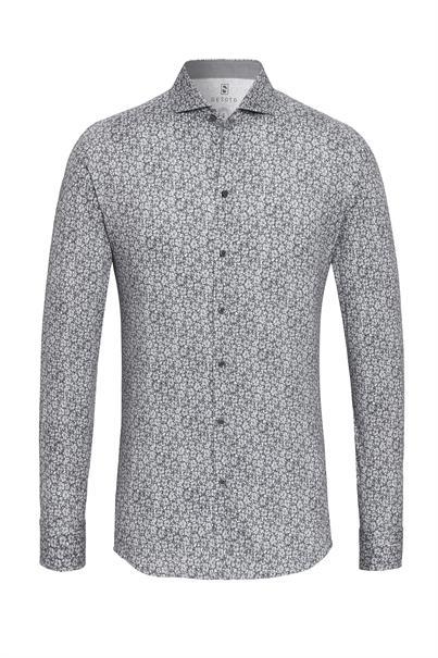 Desoto overhemd Slim Fit 39007-3 in het Licht Grijs