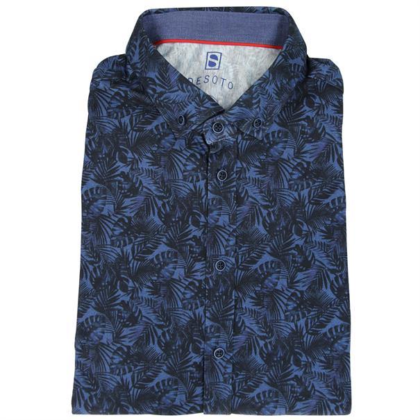 Desoto overhemd Slim Fit 70431-3 in het Wit/Blauw