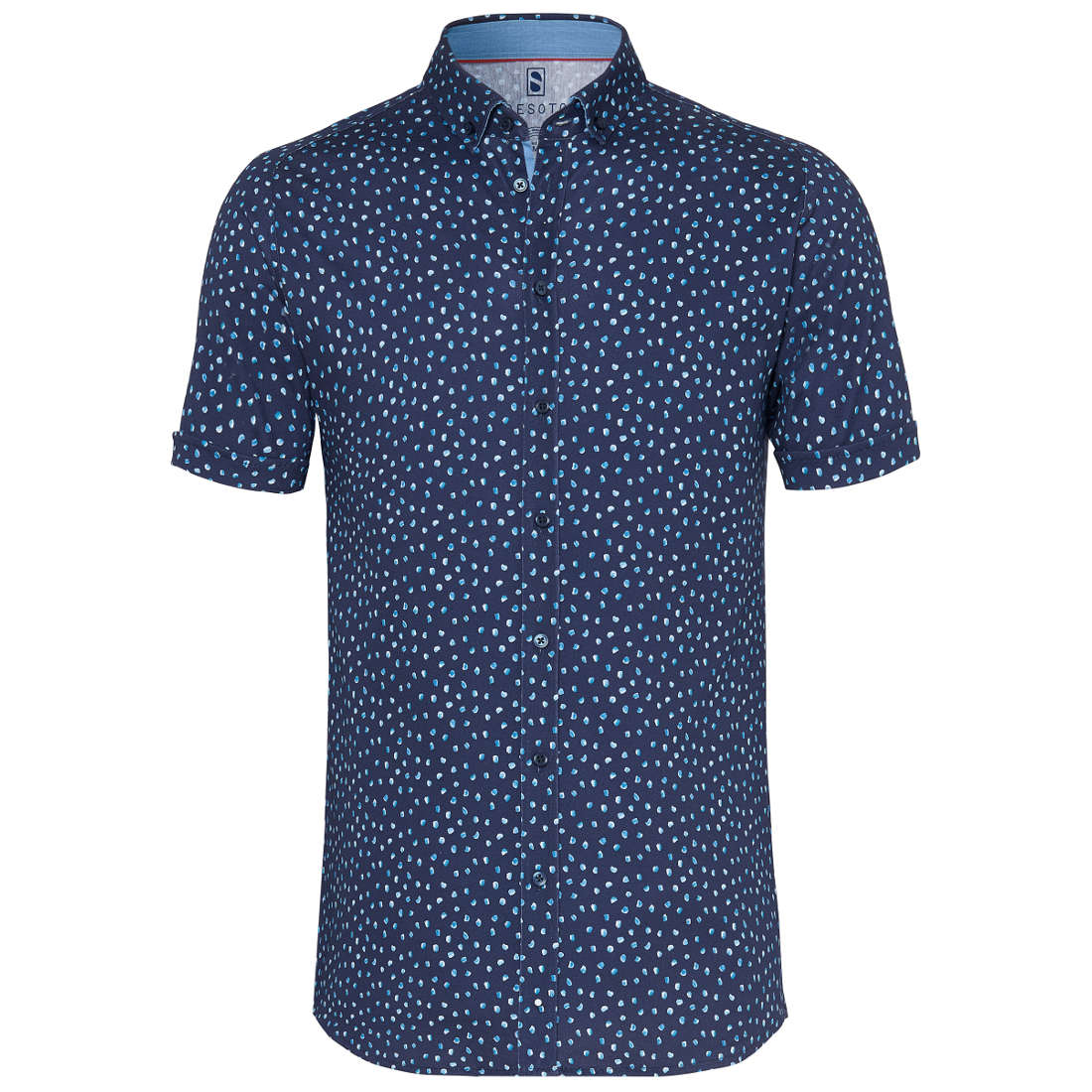 Desoto overhemd Slim Fit 90031-3 in het Donker Blauw