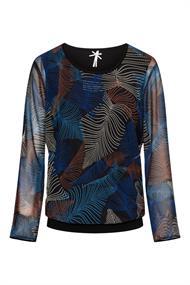 Dreamstar blouse petal in het Kobalt