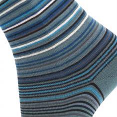 Effio sokken stripes-629 in het Grijs