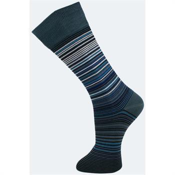 Effio sokken stripes in het Petrol