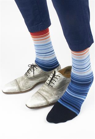 Effio sokken W-stripes-0071 in het Licht Blauw