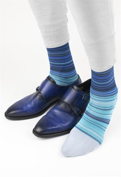 Effio sokken W-stripes-0077 in het Kobalt