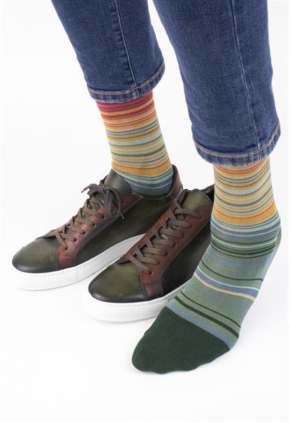 Effio sokken W-stripes-0079 in het Groen