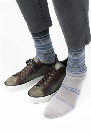 Effio sokken W-stripes-0080 in het Beige