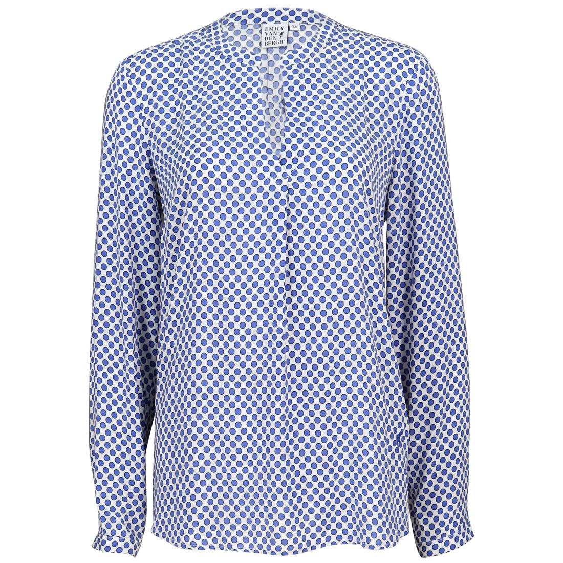 Emily van den Bergh blouse 6322-143650 in het Wit/Blauw