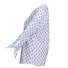 Emily van den Bergh blouse 6817-144491 in het Wit/Blauw