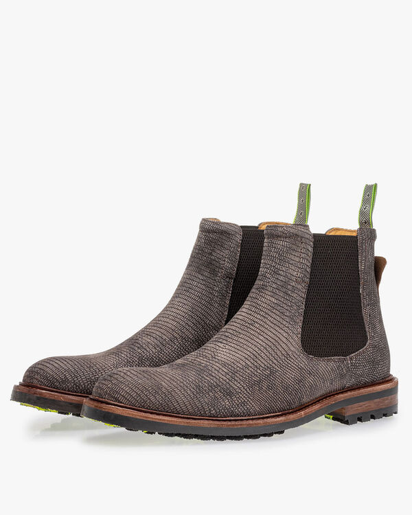 Floris van Bommel schoenen 20093 in het Donker grijs