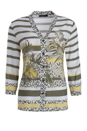Frank Walder blouse 204105 in het Groen
