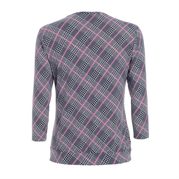 Frank Walder blouse 207426 in het Marine