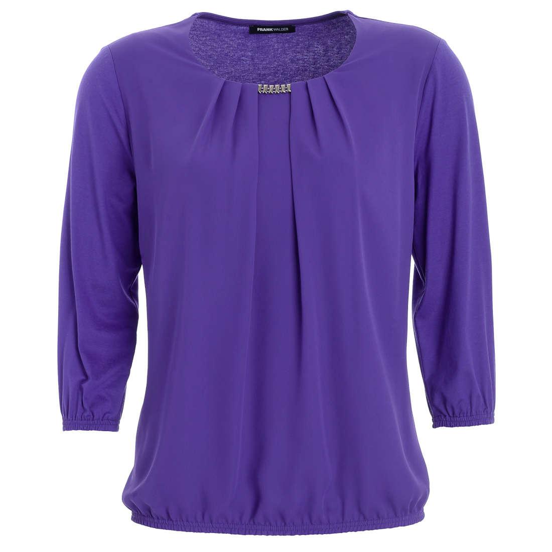 Smit Mode:  Frank Walder blouse 621430 in het Lavendel