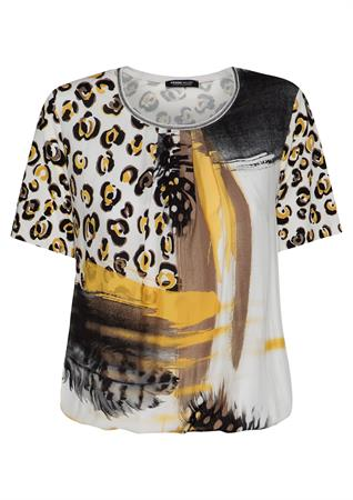 Frank Walder t-shirts 104423 in het Geel