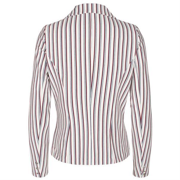 Freequent blazer nanni-stripe-z19 in het Wit/Rood