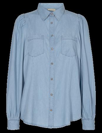 Freequent blouse dobby-sh in het Denim