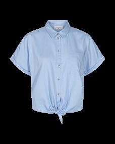 Freequent blouse hella-sh-tie in het Licht Blauw