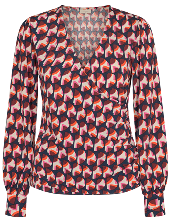 Freequent blouse must-bl in het Donker Blauw