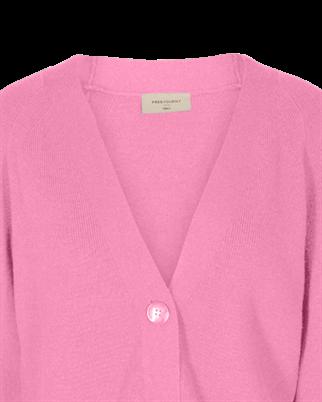 Freequent gebreid vest clarins-car in het Roze