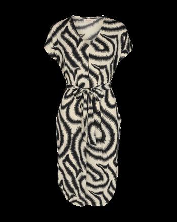 Freequent jurk floi-dr in het Zwart / Wit