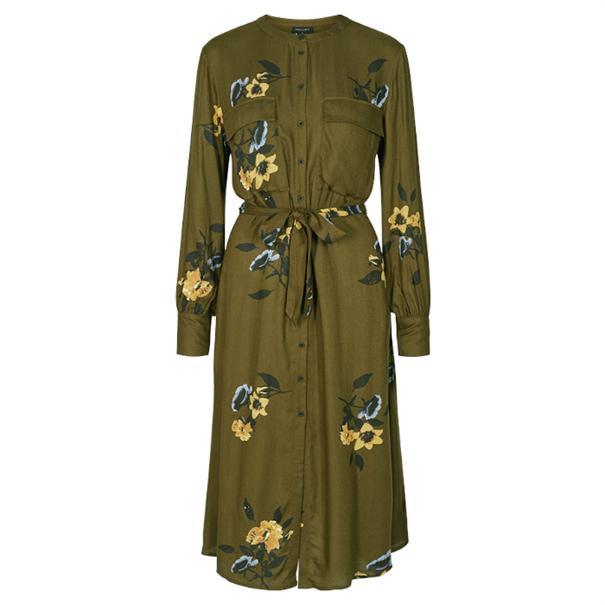 Freequent jurk hoxi-dr in het Olijf groen