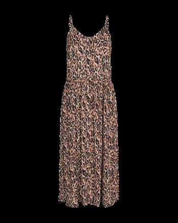 Freequent jurk mille-l-dr-leopi in het Zwart / Beige