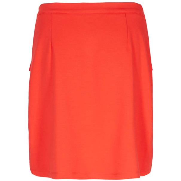 Freequent midi rok marly-sk in het Rood