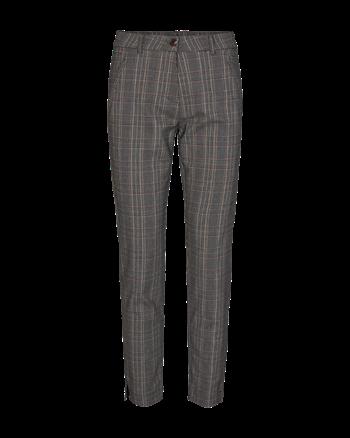 Freequent pantalons bella-check3 in het Grijs