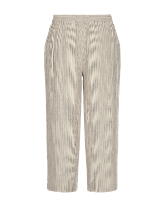 Freequent pantalons lavara-pa-stripe in het Zwart / Beige