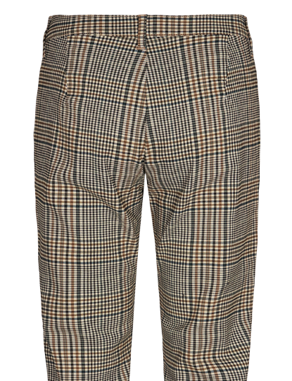 Freequent pantalons rex-ankle-pa-che4 in het Zwart / Beige