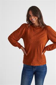 Freequent t-shirts blond-ls-bl in het Camel