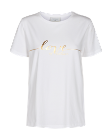 Freequent t-shirts fenja-tee-love in het Wit