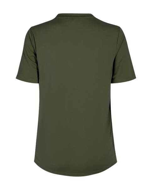 Freequent t-shirts yr-ss-bl in het Olijf groen
