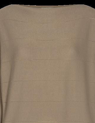 Freequent trui sally-pointelle in het Beige