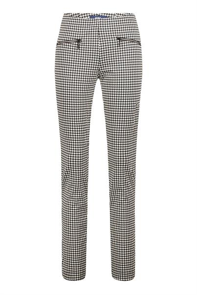 Gardeur pantalons zene10 645191 in het Zwart