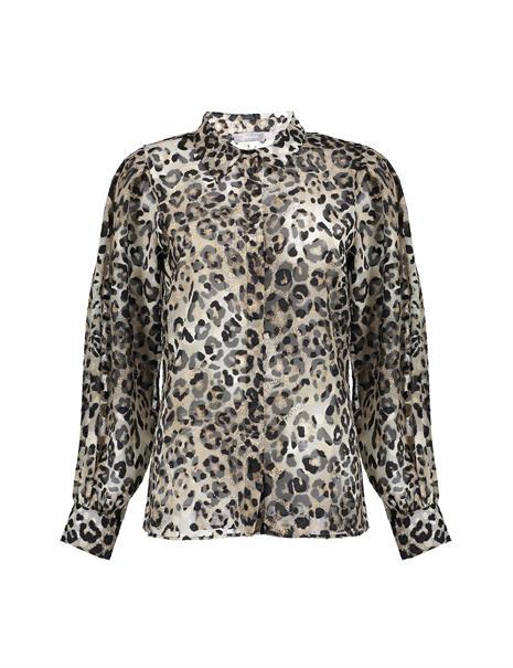 Geisha blouse 13733-20 in het Bruin