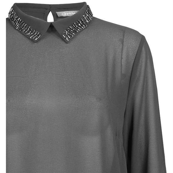 Geisha blouse 83513-10 in het Zwart