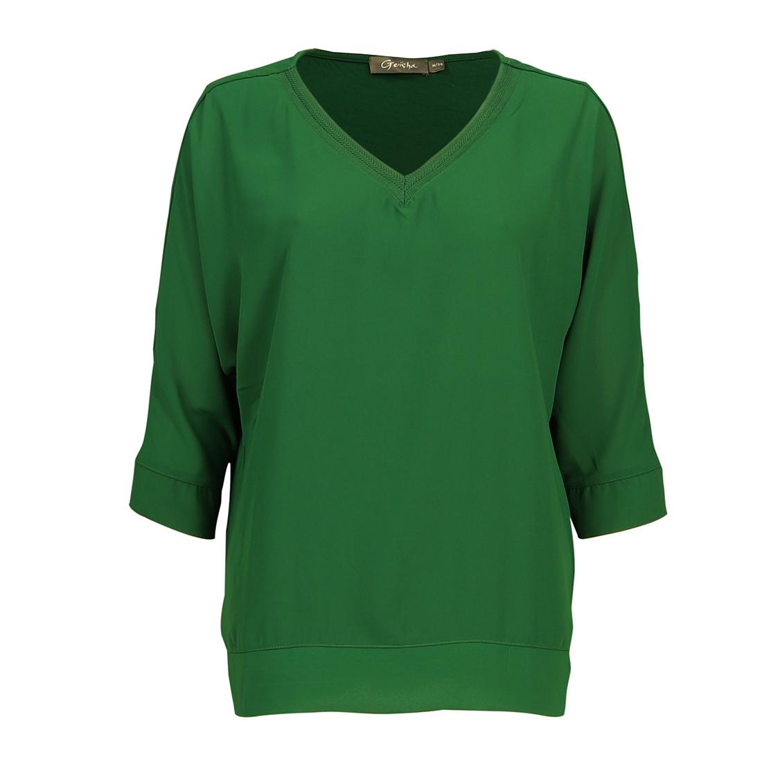 Smit Mode: Geisha blouse 93506 10 in het Donker Groen