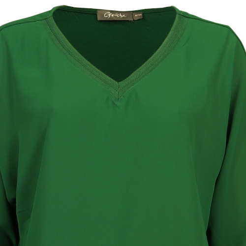 Geisha blouse 93506-10 in het Donker Groen