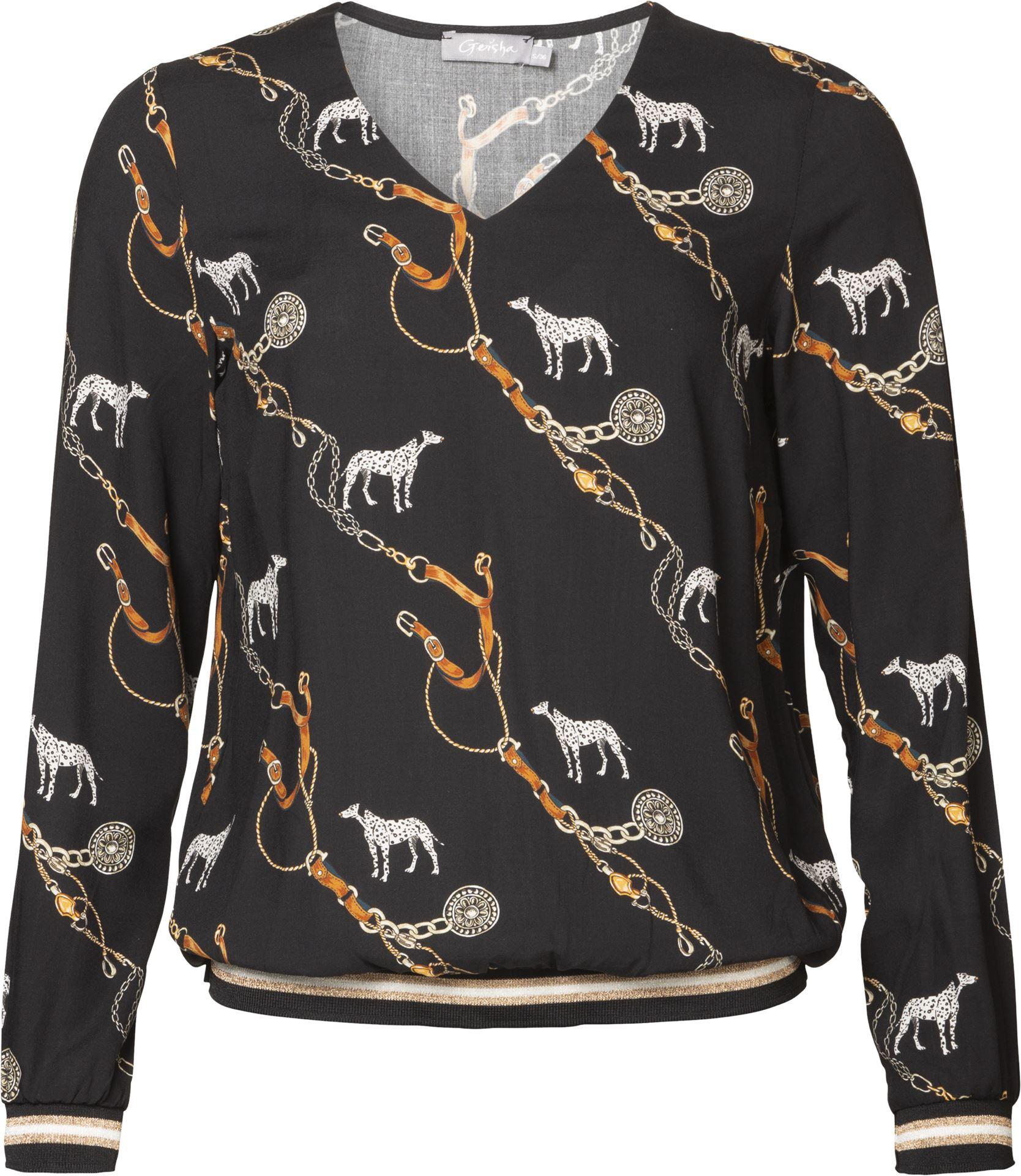 Smit Mode:  Geisha blouse 93646 20 in het Zwart
