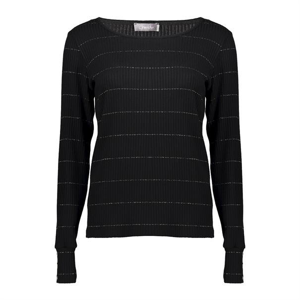 Geisha t-shirts 02855-20 in het Zwart / Beige