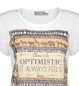Geisha t-shirts 12042-40 in het Wit