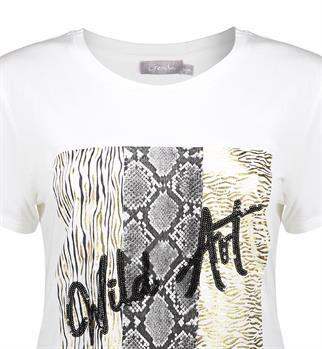 Geisha t-shirts 12111-41 in het Offwhite