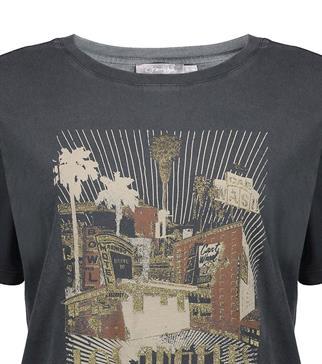 Geisha t-shirts 12517-30 in het Donker grijs