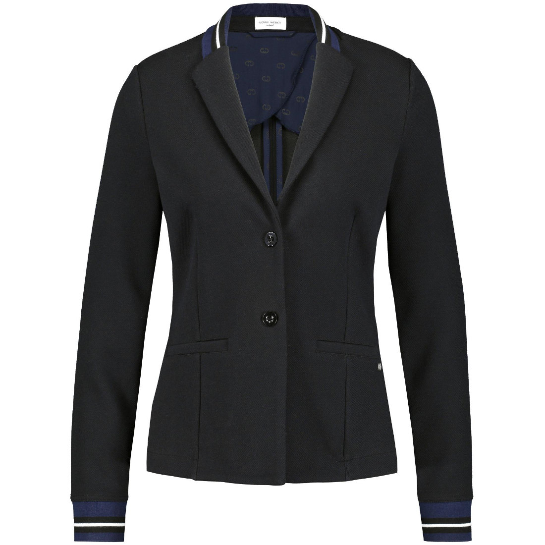 Smit Mode: Gerry Edition blazer 730014 44064 in het Zwart
