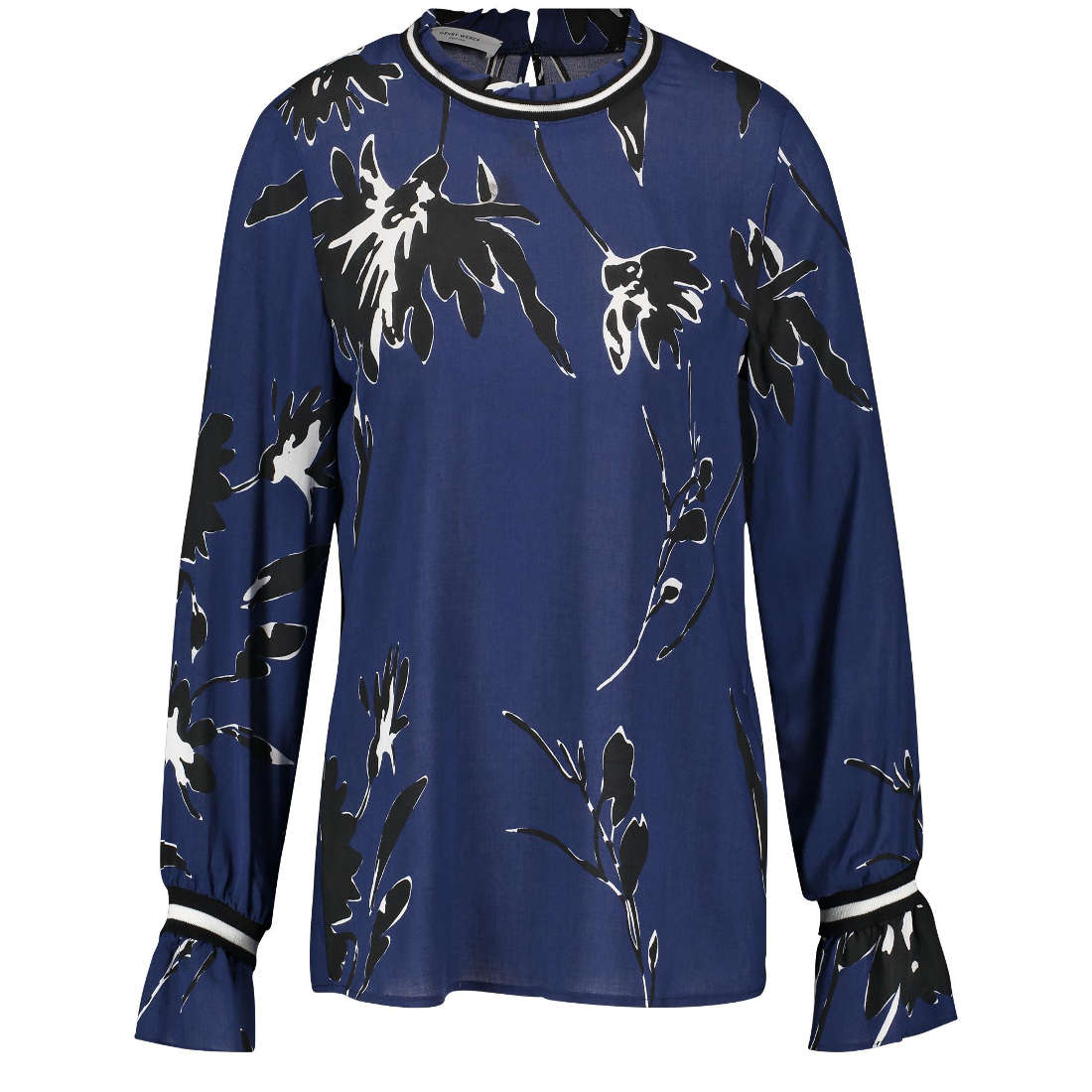 Image of Gerry Edition blouse 760101-67091 in het Blauw