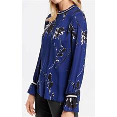 Gerry Edition blouse 760101-67091 in het Blauw