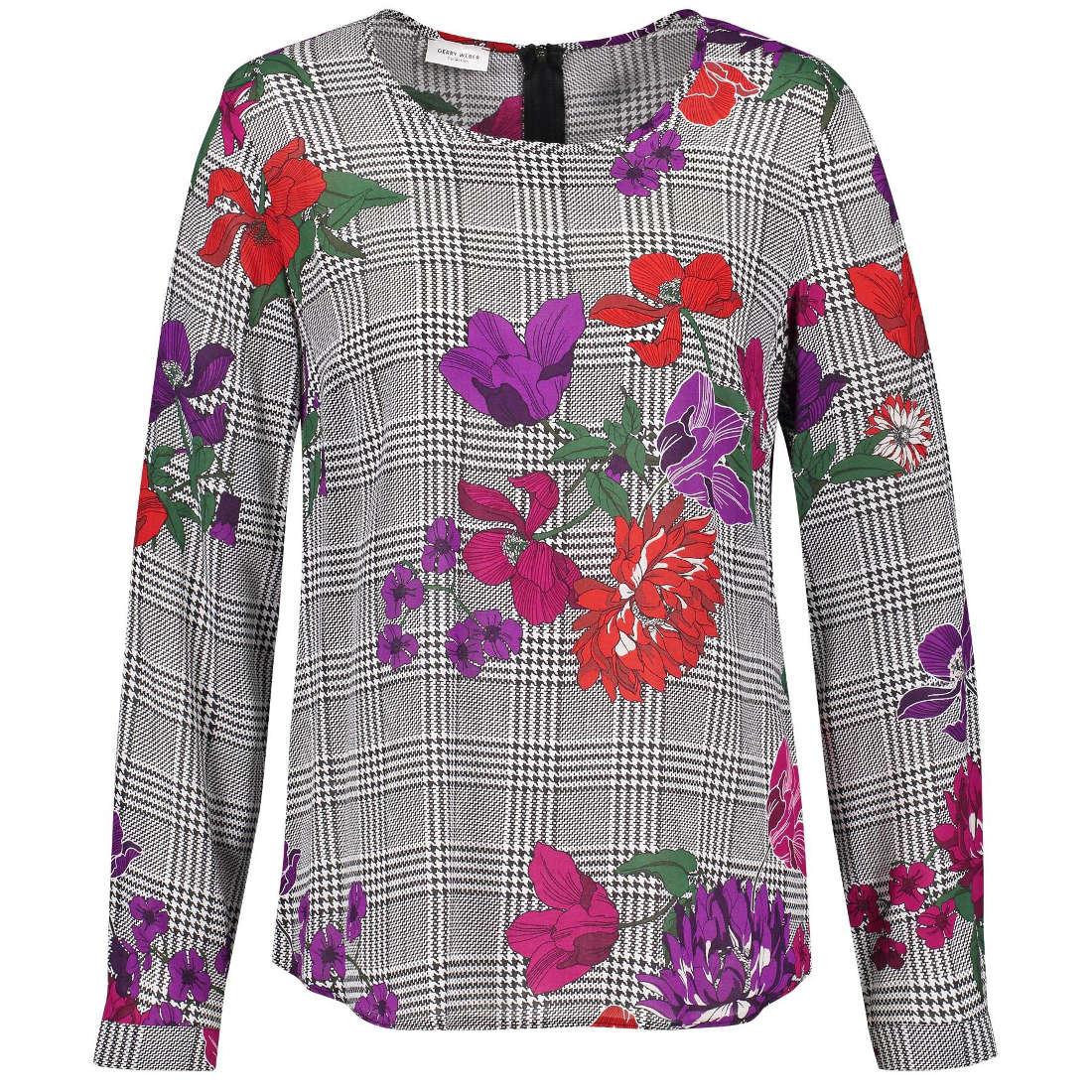 Smit Mode:  Gerry Weber blouse 860056 38320 in het WitBeige