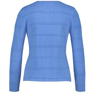 Gerry Weber gebreid vest 831065-35709 in het Blauw